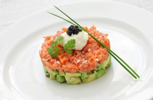 Salmon and avocado tartar