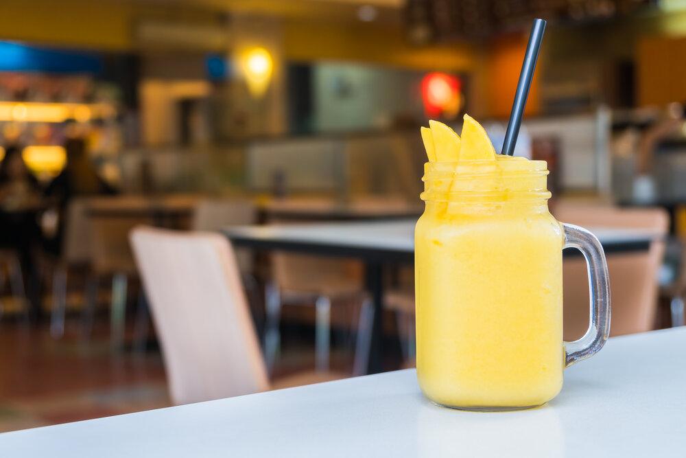 receta de batido de mango